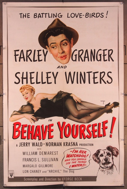 BEHAVE YOURSELF! (1951) 27668 RKO Original U.S. One-Sheet Poster  (27x41)  Folded  Very Fine Condition