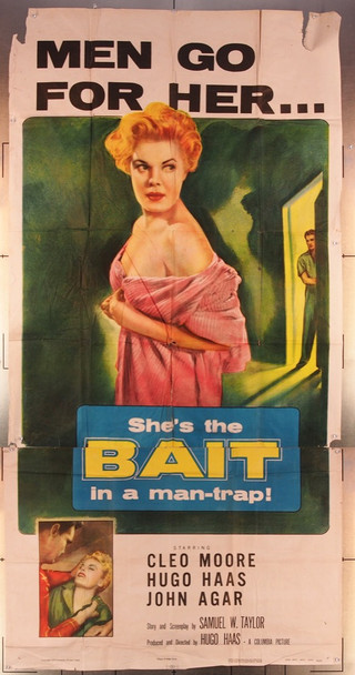 BAIT (1954) 6773 Columbia Pictures Original Three Sheet Poster (41x81) Folded  Fair Condition
