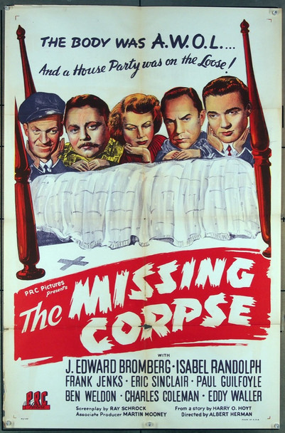 MISSING CORPSE, THE (1945) 9367 P.R.C. Original U.S. One-Sheet Poster  Folded  27x41  Good Plus Condition