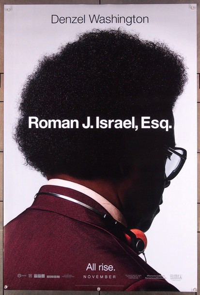 ROMAN J. ISRAEL, ESQ.   (2017) 27607 Columbia Pictures Original U.S. One-Sheet Poster (27x40)  Rolled  Very Fine