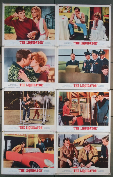 LIQUIDATOR, THE (1965) 16692 MGM Original U.S. Lobby Card Set   Eight 11x14 Cards   Very Good to Fine Condition
