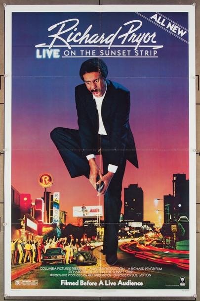 RICHARD PRYOR: LIVE ON THE SUNSET STRIP (1982) 27317 Columbia / Tri Star Original U.S. One-Sheet Poster  (27x41) Folded  Very Fine Condition