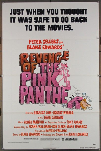REVENGE OF THE PINK PANTHER (1978) 27314 United Artists Original U.S. One-Sheet Poster (27x41) Folded  Very Fine Condition