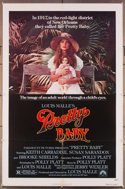 PRETTY BABY (1978) 27303 Paramount Pictures Original U.S. One-Sheet Poster (27x41) Folded  Very Fine Condition