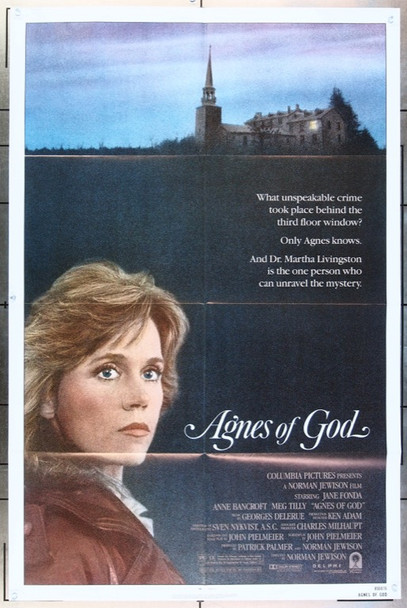 AGNES OF GOD (1985) 2688 Columbia Pictures Original One Sheet Poster (27x41) Folded  Very Fine Condition