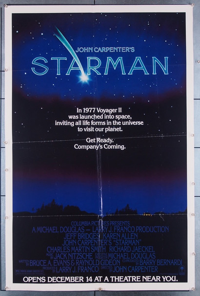 STARMAN (1984) 27350 Columbia Pictures Original U.S. One-Sheet Poster (27x41) Folded  Fine Condition