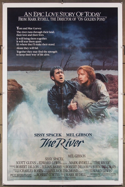 RIVER, THE (1984) 27318 Universal Pictures Original U.S. One-Sheet Poster (27x41) Folded  Very Fine Condition
