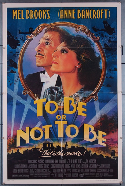 TO BE OR NOT TO BE (1983) 27364 20TH Century Fox Original U.S. One-Sheet Poster (27x41) Folded  Very Fine Condition