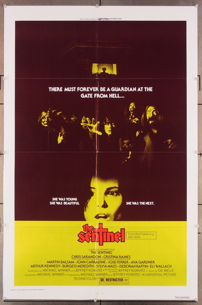 SENTINEL, THE (1977) 27333 Universal Pictures Original One-Sheet Poster (27x41) Folded  Very Fine Condition