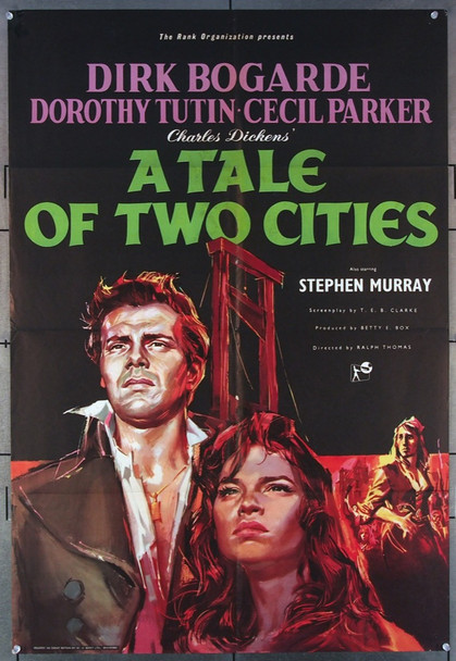 TALE OF TWO CITIES, A (1958) 12095 Rank Original British 27x40 Poster  Folded  Good Condition