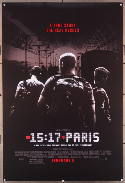 15:17 TO PARIS, THE (2018) 27670 Warner Brothers Original U.S. One-Sheet Poster (27x40) Double Sided  Rolled