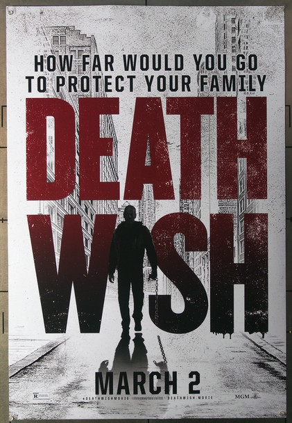DEATH WISH (2018) 27672 Annapurna Pictures Original U.S. One-Sheet Rolled 27x40  Double-Sided  Very Fine Condition
