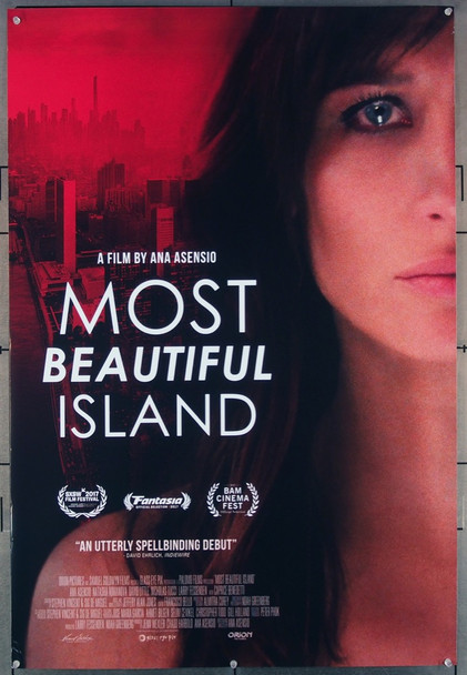 MOST BEAUTIFUL ISLAND (2017) 27676 The Film Sales Company Original U.S. One-Sheet Poster  27x40 Rolled  Very Fine Condition