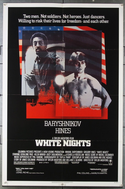 WHITE NIGHTS (1985) 1608 Columbia Pictures Original U.S. One-Sheet Poster (27x41) Folded  Very Fine Condition