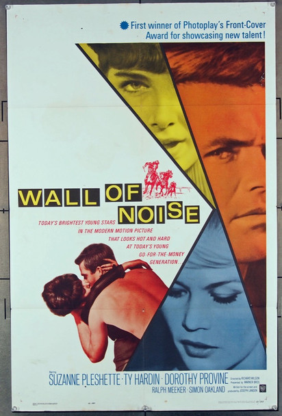 WALL OF NOISE (1963) 11247 Warner Brothers Original U.S. One-Sheet Poster (27x41) Folded  Very Good Condition