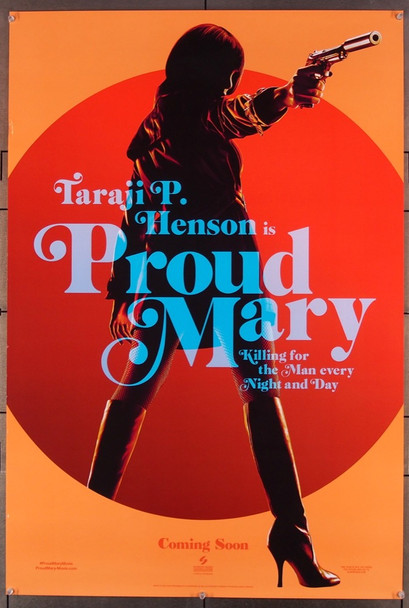 PROUD MARY (2018) 27606 Screen Gems Original U.S. One-Sheet Poster (27x40) Double-Sided  Very Fine Condition