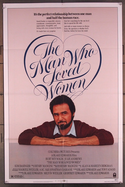 MAN WHO LOVED WOMEN, THE (1983) 2720 Columbia Pictures Original U.S. One-Sheet Poster (27x41) Folded  Very Fine Condition