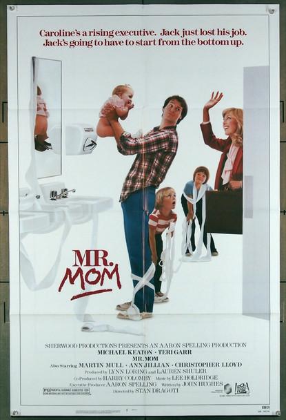 MR. MOM (1985) 2718 20th Century Fox Original U.S. One-Sheet Poster (27x41) Folded  Very Fine Condition
