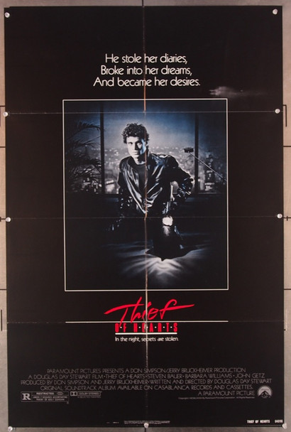 THIEF OF HEARTS (1984) 2714 Paramount Pictures Original U.S. One-Sheet Poster (27x41) Folded  Very Fine Condition