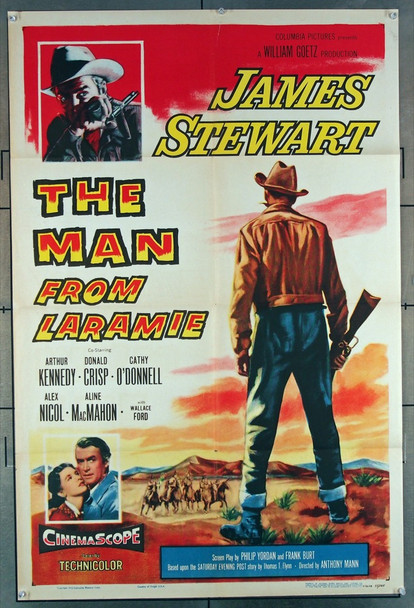MAN FROM LARAMIE, THE (1955) 5697 Columbia Pictures Original U.S. One-Sheet Poster (27x41) Folded  Fine Condition