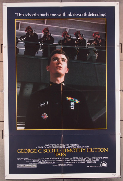 TAPS (1981) 11551 20th Century Fox Original U.S. One-Sheet Poster (27x41) Folded
