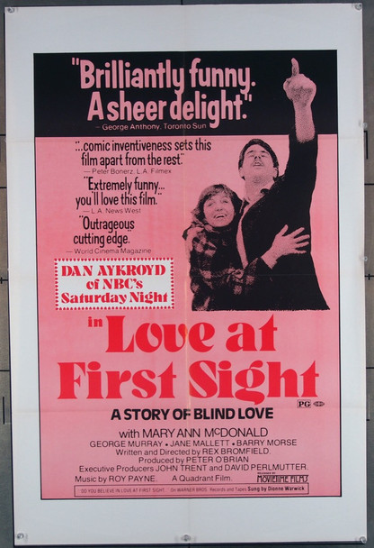 LOVE AT FIRST SIGHT (1977) 11556 CFDC Original U.S. One-sheet Poster (27x41) Folded  Very Fine Condition