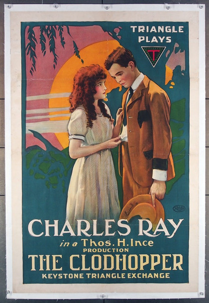 CLODHOPPER, THE (1917) 26769 Triangle Distributing Original U.S. One-Sheet Poster (27x41)  Linen Backed  Fine Plus Condition