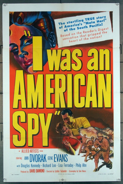 I WAS AN AMERICAN SPY (1951) 27728 MGM Original U.S. One-Sheet Poster (27x41) Folded  Fine Plus Condition