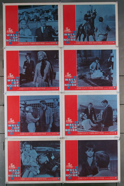 WALL OF NOISE (1963) 16987 Warner Brothers Original U.S. Lobby Card Set  Eight individual 11x14 Cards  Very Good Condition to Fine Condition