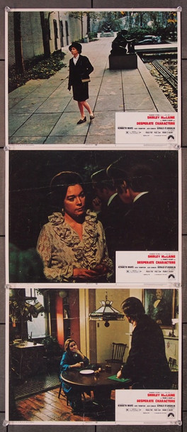 DESPERATE CHARACTERS (1971) 8393 Paramount Pictures Original Lobby Cards   Three individual 11x14 cards  Good Condition