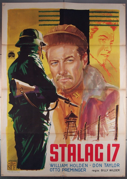 STALAG 17 (1953) 27740 Paramount Pictures Original Italian 39x55 Poster  Folded  Re-release  Very Good Plus to Fine Condition