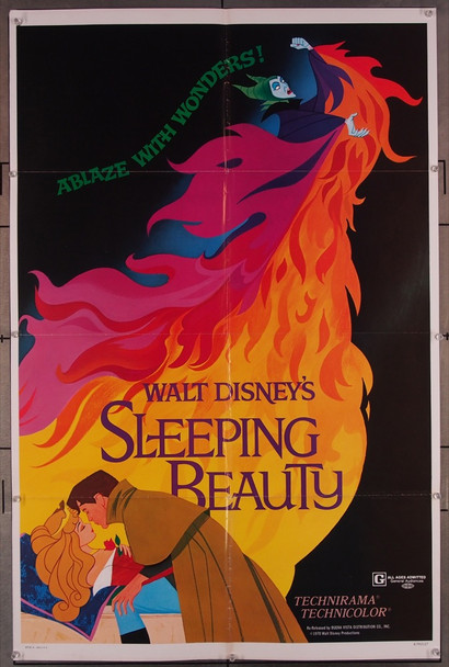 SLEEPING BEAUTY (1959) 27736 Walt Disney Company Original One-Sheet Poster  (27x41)  Folded  Fine Plus Condition