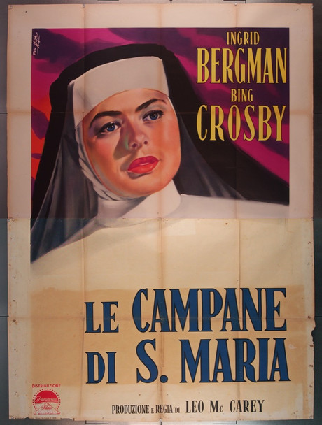 BELLS OF ST. MARY'S,THE (1945) 27742 RKO Original Italian 79x55 Poster   Folded  Very Good Condition  Art by Enzo Nistri