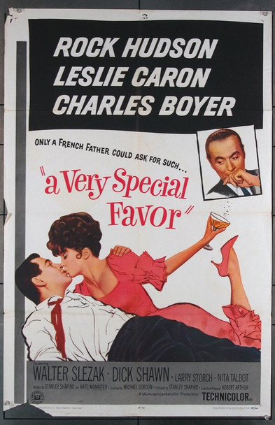 VERY SPECIAL FAVOR, A (1965) 11457 Universal PIctures Original U.S. One-Sheet Poster (27x41) Fair to Good Condition