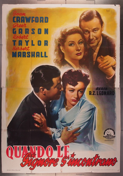 WHEN LADIES MEET (1941) 27745 Original Italian Four-Foglio Poster (79x55)  Very Good Plus Condition  Folded