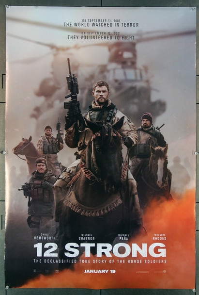 12 STRONG (2018) 27748 Lionsgate Original U.S. One-Sheet Poster (27x40) Rolled  Very Fine Condition