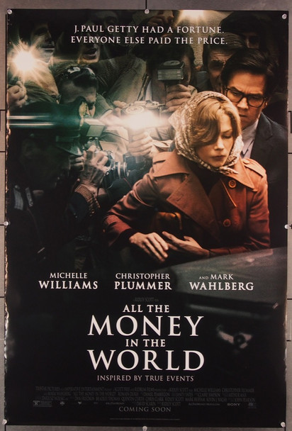 ALL THE MONEY IN THE WORLD (2017) 27750 Sony PIctures Entertainment Original One-Sheet Poster (27x40) Very Fine Condition