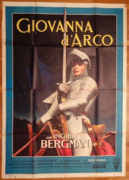 JOAN OF ARC (1948) 27743 RKO Original Italian 79x55 Poster  Folded  Fine Plus Condition