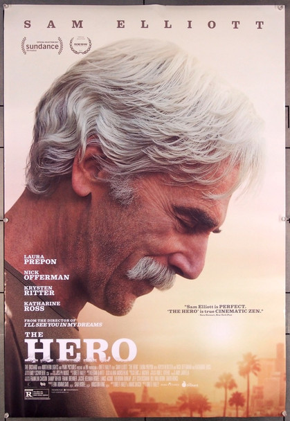 HERO, THE (2017) 27486 Lionsgate Original One-Sheet Poster (27x40) Very Fine Rolled
