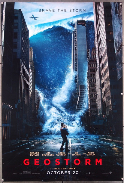 GEOSTORM (2017) 27483 Warner Brothers Original One-sheet Poster (27x40) Rolled  Double Sided  Very Fine Condition
