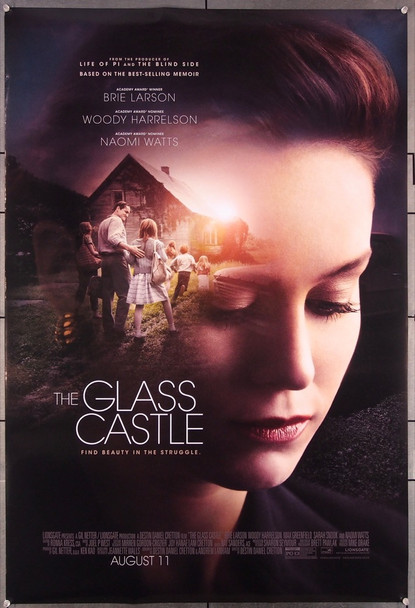 GLASS CASTLE, THE (2017  ) 27484 Lionsgate Original One-Sheet Poster (27x40) Rolled  Double-Sided  Very Fine Condition
