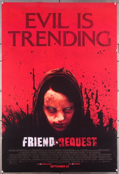 FRIEND REQUEST (2016) 27482 Warner Brothers Original One-Sheet Poster (27x40)  Rolled  Double Sided  Very Fine Condition