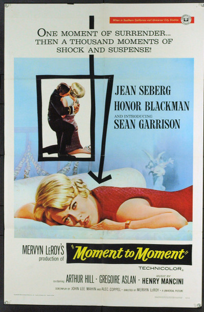 MOMENT TO MOMENT (1965) 11397 Original Universal Pictures One Sheet Poster. 27x41. Fine condition.
