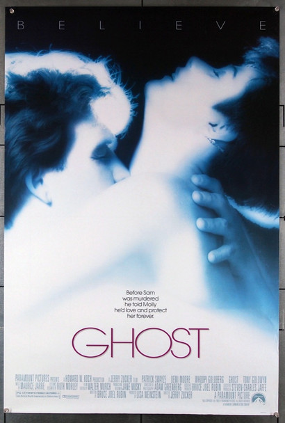 GHOST (1990) 3997 Paramount Pictures Original U.S. One-Sheet Poster (27x41) Rolled Fine Plus Condition