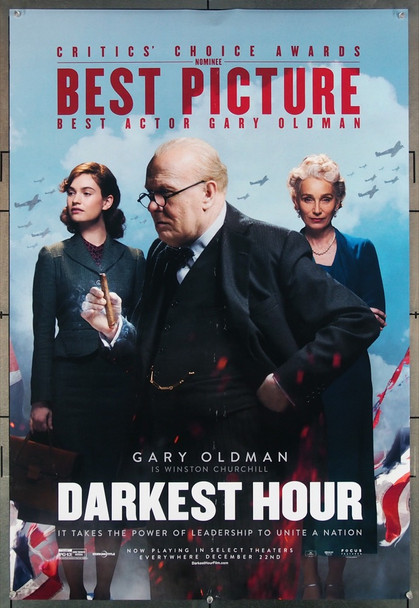 DARKEST HOUR (2017) 27753 Focus Features Original U.S. One-Sheet Poster (27x40) Rolled  Fine Plus Condition