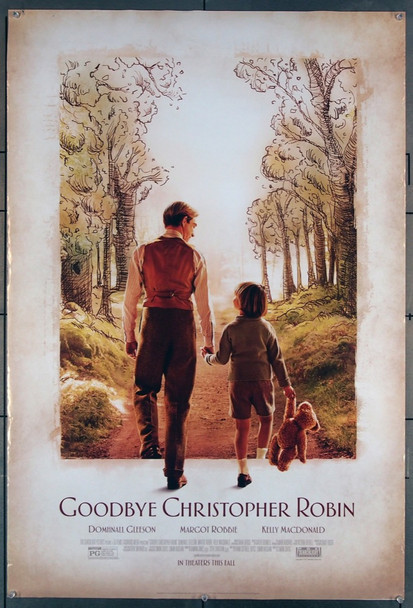 GOODBYE CHRISTOPHER ROBIN (2017) 27756 Fox Searchlight Pictures Original U.S. One-Sheet Poster  27x40  Rolled  Fine Plus Condition