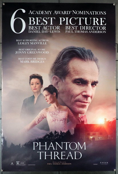 PHANTOM THREAD (2017) 27765 Focus Features Original U.S. One-Sheet Poster (27x40) Rolled  Very Good Used Condition