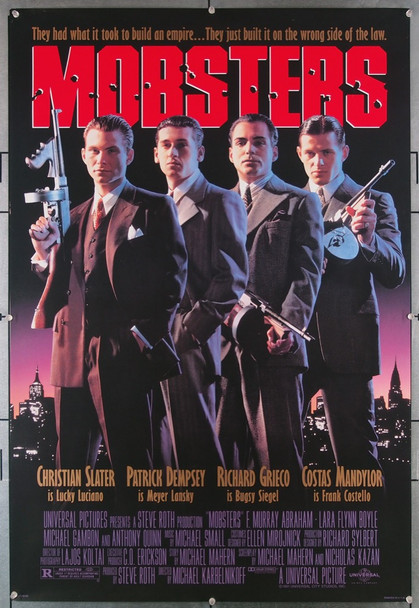 MOBSTERS (1991) 4013 Universal Pictures Original U.S. One-Sheet Poster  Rolled  Very Fine Condition
