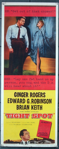 TIGHT SPOT (1955) 27781 Columbia Pictures Original U.S. Insert Poster (14x36) Rolled  Fine Plus Condition
