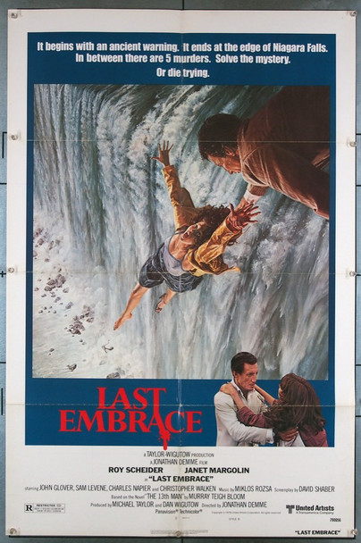 LAST EMBRACE  (1979) 3310 United Artists Original U.S. One-Sheet Poster (27x41) Folded  Very Fine Condition